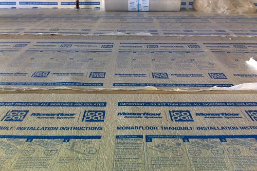 Soundproofing a floor with Monarfloor